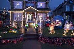 愉快家庭装饰圣诞节的 库存图片