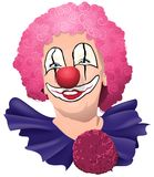 愉快微笑和滑稽的小丑 免版税图库摄影