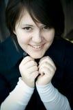 愉快微笑青少年 免版税库存图片
