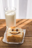 愉快敬酒和一杯牛奶 免版税库存图片