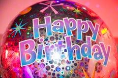 愉快气球的生日 库存图片
