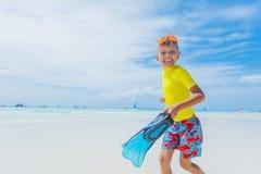 愉快海滩的子项 暑假概念 库存照片