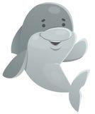 愉快海豚挥动 免版税图库摄影