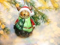 愉快涉及与诗歌选光的圣诞节背景 免版税库存照片