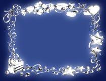愉快生日蓝色的框架 免版税库存图片