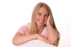 愉快白肤金发的表面的现有量 免版税库存照片