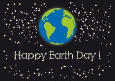 愉快的世界地球日传染媒介 免版税库存图片