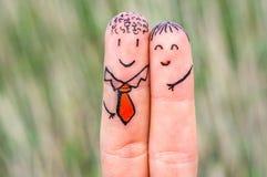 愉快的两个手指 库存照片