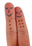 愉快的两个手指 图库摄影