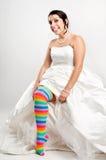 愉快的乐趣新娘 免版税图库摄影