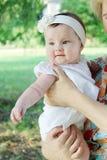 愉快的五个月女婴 免版税库存照片