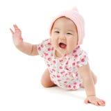愉快的亚裔女婴 库存图片