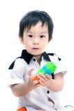 愉快的亚裔孩子画象  图库摄影