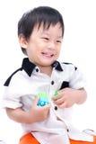 愉快的亚裔孩子画象  库存照片