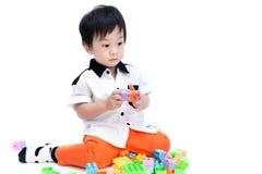 愉快的亚裔孩子画象  库存图片