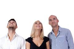 愉快的人企业队小组一起 免版税库存照片