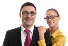 愉快的企业夫妇 免版税图库摄影