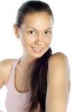 愉快的健康纵向妇女年轻人 免版税库存图片