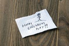 愉快的儿童的天 免版税库存照片