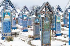 愉快的公墓冬时 库存照片