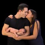 愉快的加上新出生的婴孩 免版税库存图片