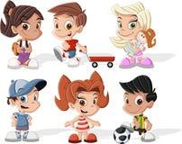 愉快的动画片孩子 免版税库存照片
