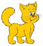 愉快的动画片猫 库存照片