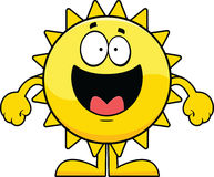 愉快的动画片太阳 库存图片