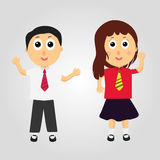 愉快的动画片孩子 免版税图库摄影