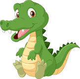 愉快的动画片鳄鱼 库存图片