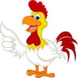 愉快的动画片鸡赞许 免版税库存照片