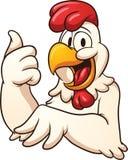 愉快的动画片鸡 库存照片