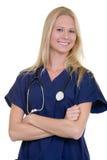 愉快的医疗保健工作者 库存图片