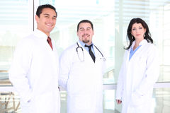 愉快的医疗成功的小组 免版税库存照片