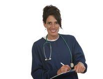愉快的医疗护士 免版税库存图片