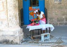 愉快的占卜者在哈瓦那古巴 免版税图库摄影