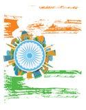 愉快的印地安共和国天横幅 也corel凹道例证向量 库存照片