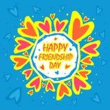 愉快的友谊天摘要背景 贺卡设计为愉快的友谊天 免版税库存照片
