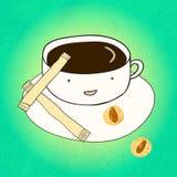愉快的咖啡杯 皇族释放例证
