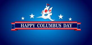 愉快的哥伦布日、网横幅或者海报 图库摄影