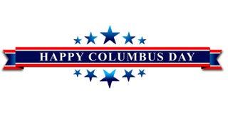 愉快的哥伦布日、网横幅或者海报 库存图片