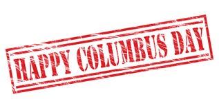 愉快的哥伦布日红色邮票 免版税图库摄影