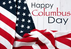 愉快的哥伦布日 团结的标记状态 免版税库存图片