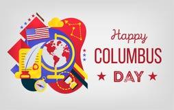 愉快的哥伦布日 库存例证