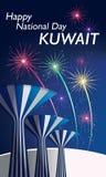 愉快的国庆节庆祝科威特 免版税图库摄影