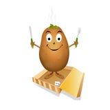 愉快的土豆 向量例证