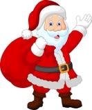 愉快的圣诞老人巫婆大袋 免版税库存照片