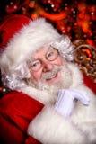 愉快的圣诞老人画象  图库摄影