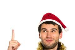 愉快的圣诞老人年轻人 图库摄影