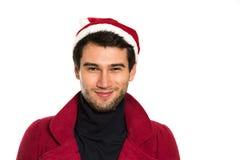 愉快的圣诞老人年轻人 免版税库存照片